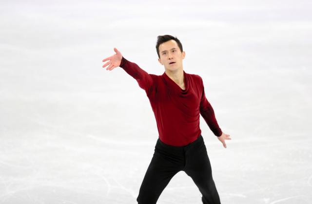 平昌五輪フィギュアスケート団体で男子フリーの演技をするパトリック・チャン