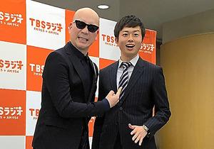 宇多丸(左)と月曜パートナーの熊崎風斗アナウンサー