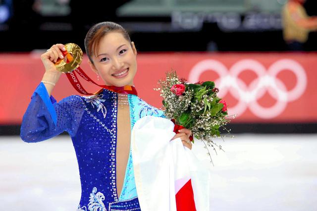 トリノ五輪女子フィギュアスケートで金メダルに輝いた荒川静香さん