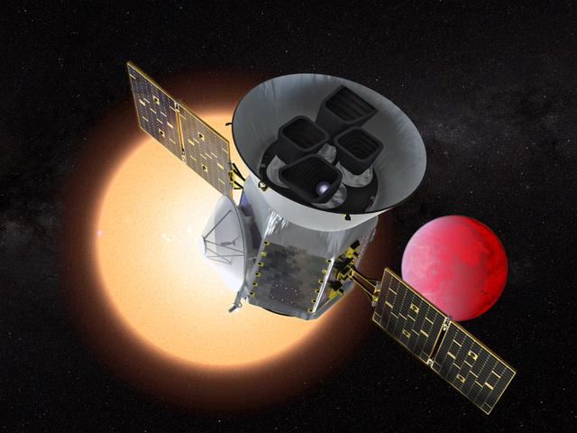 太陽系外惑星を探す宇宙望遠鏡「TESS」の想像図(NASA提供)