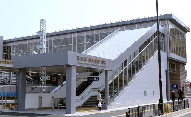 高柳駅の東西をつなぐ自由通路