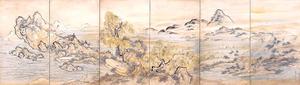 「瀟湘勝概図屛風」=重要文化財、個人蔵
