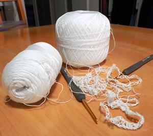 妻の趣味であるレース編み。療養中のささやかな癒やしになった