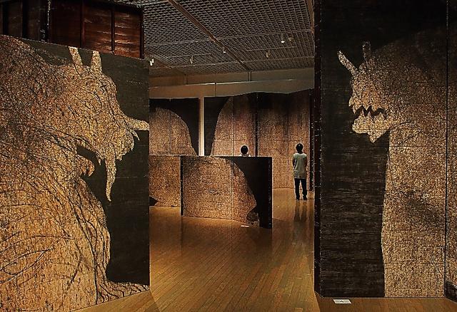 新作、近作で構成された岡村桂三郎展