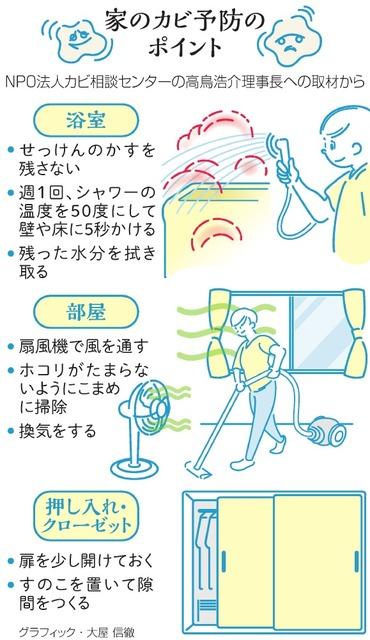 家のカビ予防のポイント