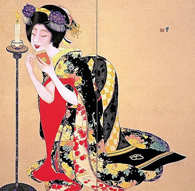 岡本神草「口紅」(1918年、京都市立芸術大学芸術資料館蔵)