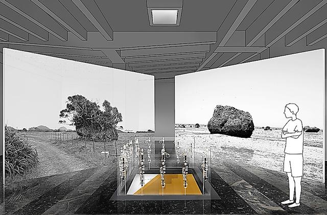 「Cosmo-Eggs|宇宙の卵」展示の予想図=能作文徳建築設計事務所作成