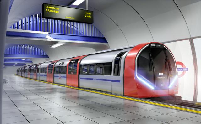 ロンドンの地下鉄の新型車両のイメージ(ロンドン交通局提供)
