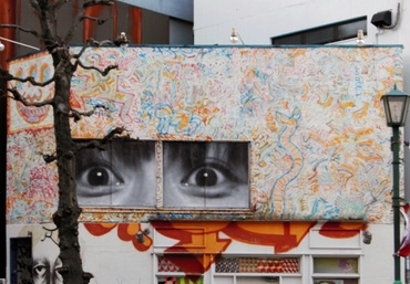 キース・ヘリングの壁画撤去 ワタリウム美術館近く