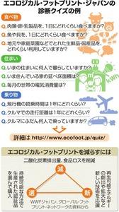 (eco活プラス)日本の暮らし、地球2.9個分 環境負荷、独自の単位で数値化