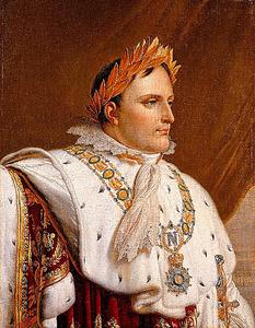 アンヌ=ルイ・ジロデ・ド・ルシー=トリオゾンの工房「戴冠式の正装のナポレオン1世の肖像」(1812年以降) Photo (C) RMN-GP (maison Bonaparte) / G. Blot /AMF-DNPartcom