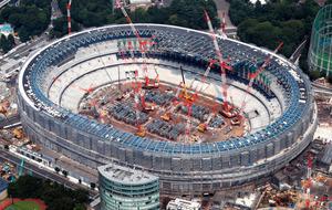 新国立競技場、工事は全体の4割終了 東京五輪まで2年