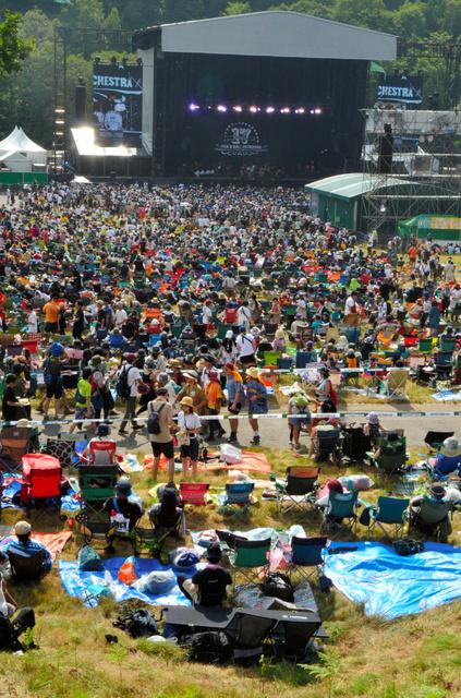 27日に始まったフジロック・フェスティバル=湯沢町の苗場スキー場