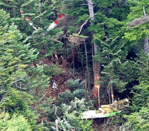 群馬県防災ヘリが墜落、2人死亡を確認 草津白根山付近:朝日 ...