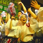 中止求めた実行委に反発 阿波踊り「総踊り」場外で強行