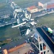 高架橋が崩落、死者は26人 車多数巻き添え イタリア