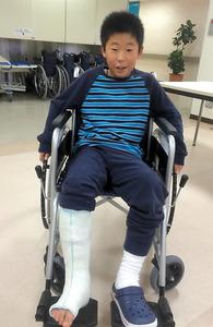 足首の骨片、手術で除去 心配せずサッカーできる