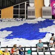 南北合同チーム、組織だったバスケで大勝 アジア大会