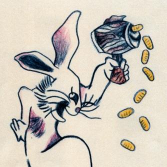 逃走容疑者の足、ウサギ?の入れ墨 府警がイメージ公開