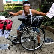 西千葉で敗れた高3、自転車で甲子園へ はちまき姿人気