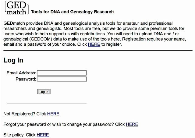 DNAデータが登録できるサイト