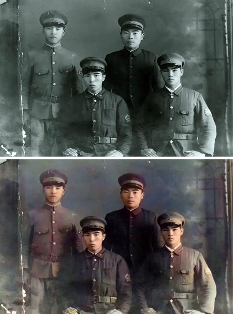 白黒写真をカラー化 若き日の祖父に会えた 記者も体験 朝日新聞デジタル