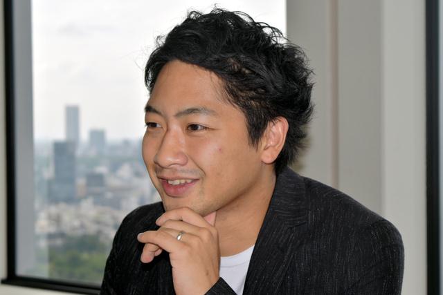 Gunosyの竹谷祐哉・最高経営責任者(CEO)=東京都港区