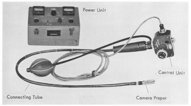 1964年の論文に掲載された胃カメラの写真