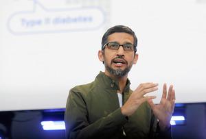 グーグルのスンダー・ピチャイ最高経営責任者(CEO)=AP