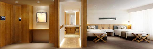 京王プラザホテルが新設する客室のイメージ図。障害がある人にも利用しやすいよう段差をへらすなどの工夫がなされている=同ホテル提供