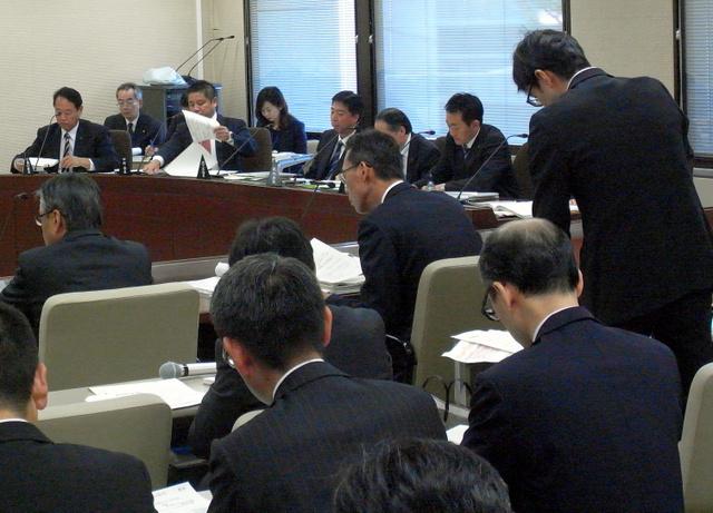 熊谷市の農地転用問題に関する埼玉県議会の百条委員会の実質的な議論が始まった=5日、埼玉県議会