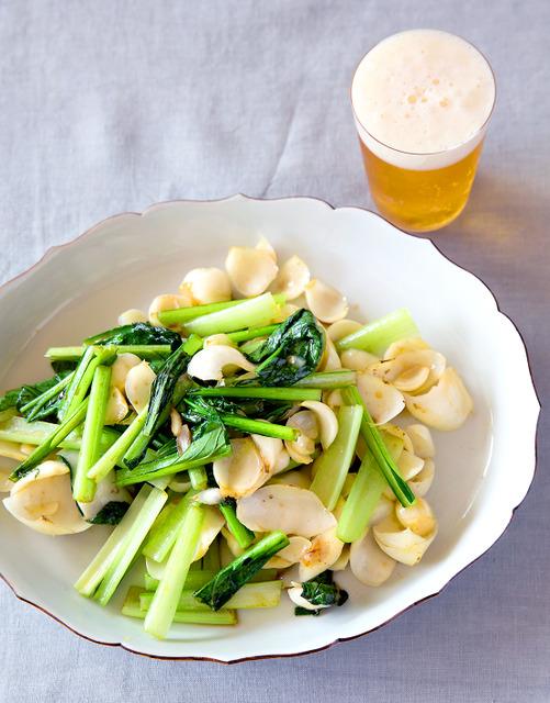 ユリ根と青菜の炒めもの=写真・山本倫子