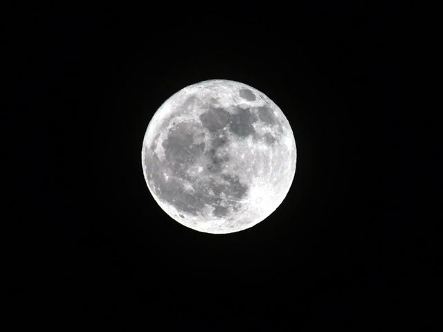 藤原道長が望月の歌を詠んでちょうど1千年後となった満月=23日午後6時35分、東京都港区、東山正宜撮影