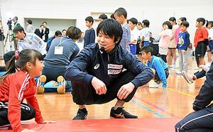 楽しくチャレンジ、内村の願い 体操教室、子どもたちとの約束
