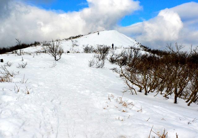 展望のきく赤坂山の山頂。最初の登山で粟柄越から登る途中で写した