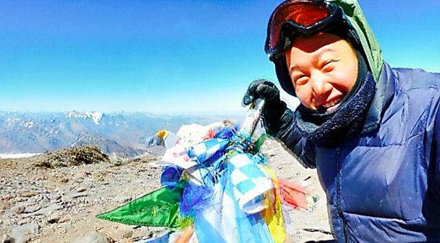 標高ゼロメートルの太平洋岸から歩いてアコンカグアに登った吉田智輝さん=6日、吉田さん撮影