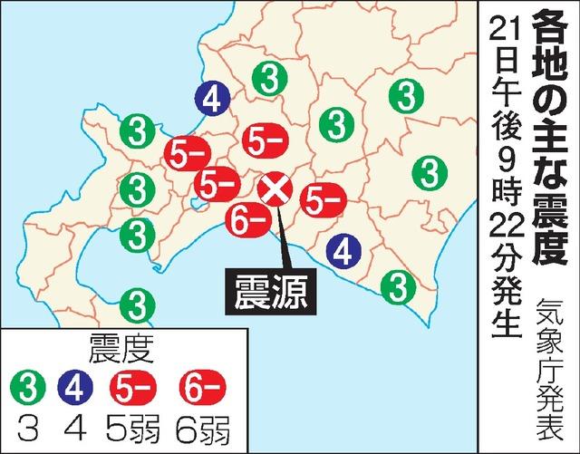 北海道厚真町で震度6弱 「人的被...