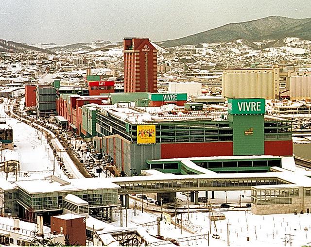 1999年に開業したマイカル小樽。当時は国内最大級の商業施設だった