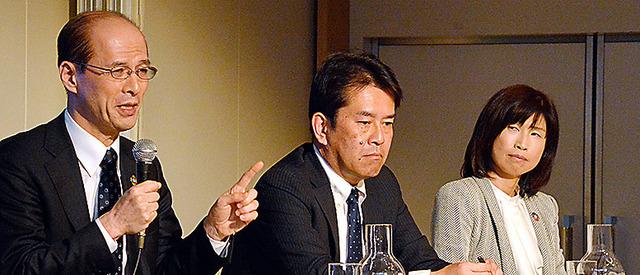 (左から)高橋則広さん、藤村武宏さん、越川志穂さん