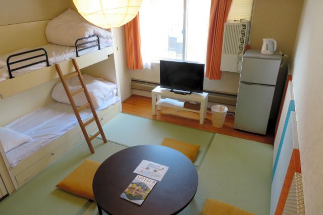 エンゼルリゾート湯沢で民泊に使われているワンルーム。5人まで泊まれる