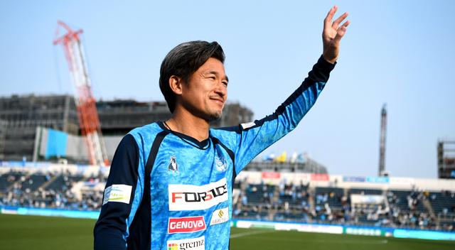 横浜FCの三浦知良さん=伊藤進之介撮影