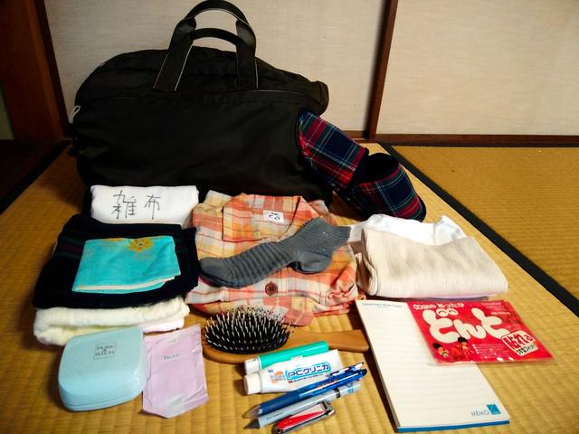 パジャマや下着などを入れた入院用バッグ(内藤敬子さん提供)