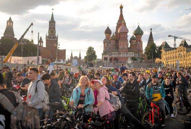 モスクワにある赤の広場=AP