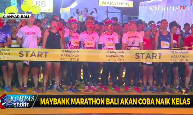 バリ島で8日に開催された国際マラソン大会(コンパスTVのツイッターから)