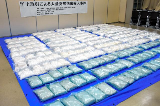 押収された覚醒剤=2019年12月26日、福岡市西区の福岡県警西署、横山翼撮影