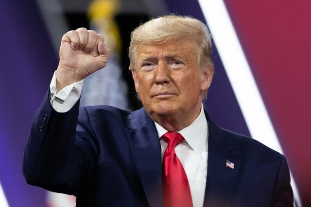 トランプ大統領=メリーランド州オクソンヒル、ランハム裕子撮影
