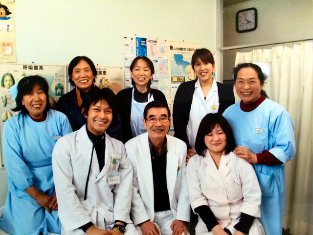 津島診療所で写した最後の写真=2011年3月11日午後4時ごろ、今野千代さん提供