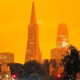 「まるで火星」サンフランシスコの暗い空 山火事の影響