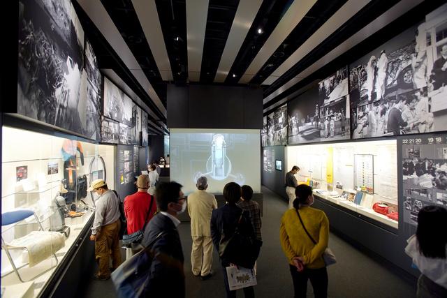 開館した東日本大震災・原子力災害伝承館=2020年9月20日午前、福島県双葉町、小玉重隆撮影