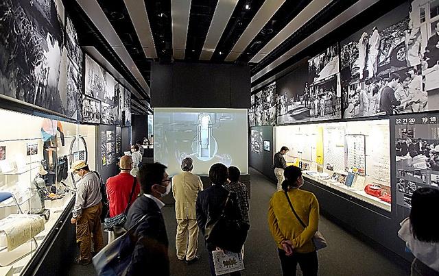 開館した東日本大震災・原子力災害伝承館=2020年9月20日午前、福島県双葉町